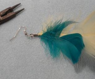 Feather Earrings: