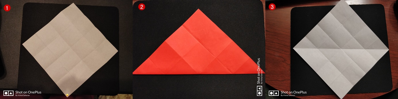 Picture of Fold the Paper Along the Diagonal and Unfold It.
