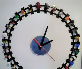 Lego Wall Clock With Minifigures