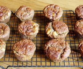 Gluten Free Banana Peach Muffins