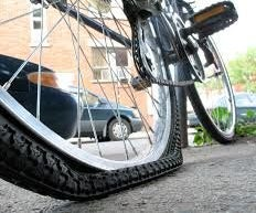 Fixing a Punctured Bike Tire