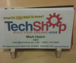 How to Make a Quick Business Card Holder