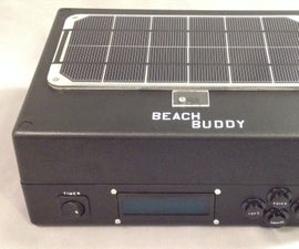 Beach Buddy: 3-in-1 Solar Phone Charger, Boombox, and Sunburn Timer Calculator
