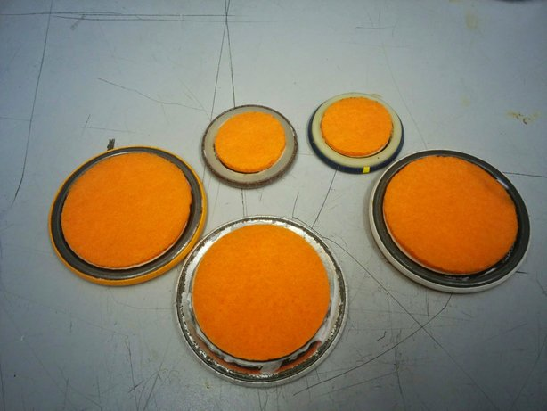 Picture of Glue in Backing and Magnets