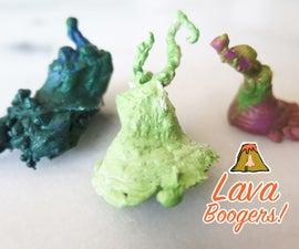 Lava Boogers! (aka waxy earth science)