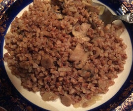 Buckwheat Risotto With Mushrooms