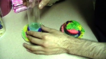 Adding the Cupcake to the Push Pop