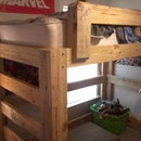 Loft Bed from reclaimed lumber
