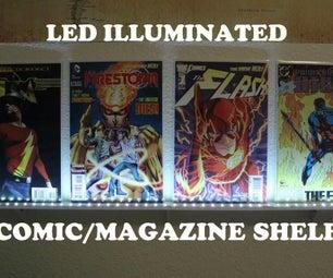 Led Illuminated Comic/Magazine Shelf
