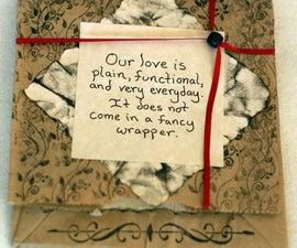 Paper bag Valentine card
