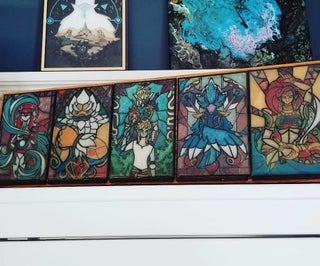 """Breath of the Wild Resin """"Stained Glass"""" Panels With RGB LED Light Box - Made With a Glowforge"""