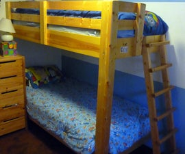 One-legged bunk bed
