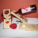 wine wood holders valentine's