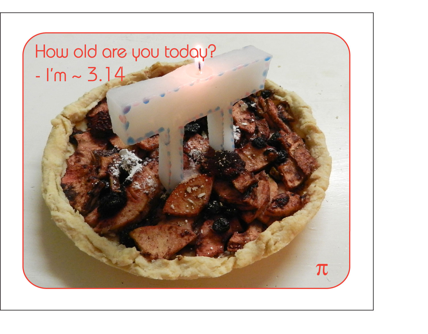 Picture of Celebrating Pi Day! How to Make a Pi Candle