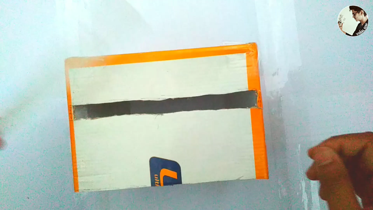 Picture of Cut Rectangle on Box