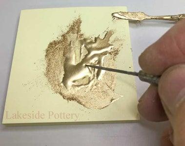 Kintsugi Application Using Metal Alloyed Powder With Gold Effect