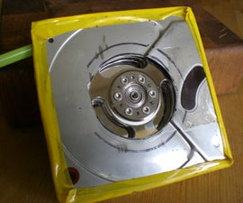 Tesla turbine from old hard drives and minimal tools