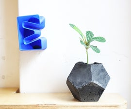Concrete Planters From 3D Printed Mold