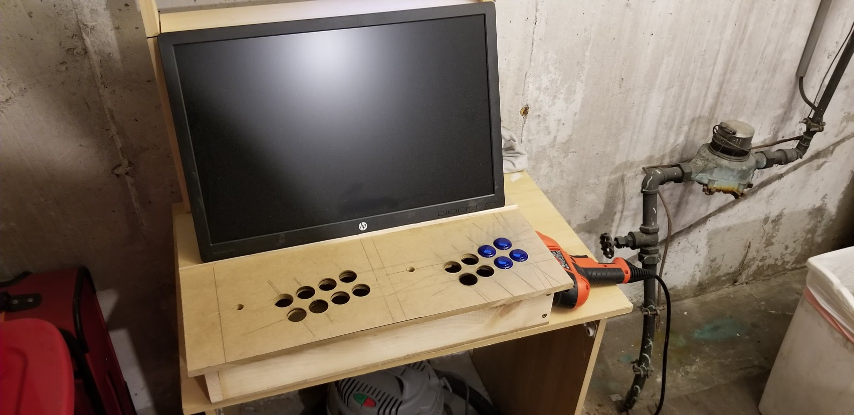 Picture of Drilling the Holes for the Buttons
