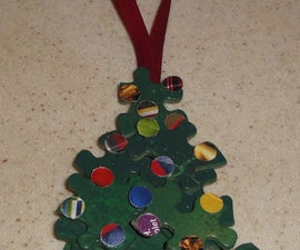 How to create a fun and easy Christmas Tree ornament from recycled items.
