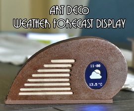 Art Deco Weather Forecast Display