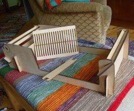 Laser-Cut Plywood Table-Loom
