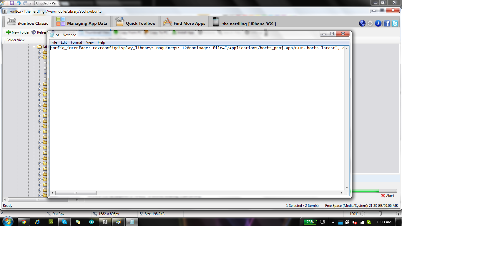 Picture of Configure the Os.ini File