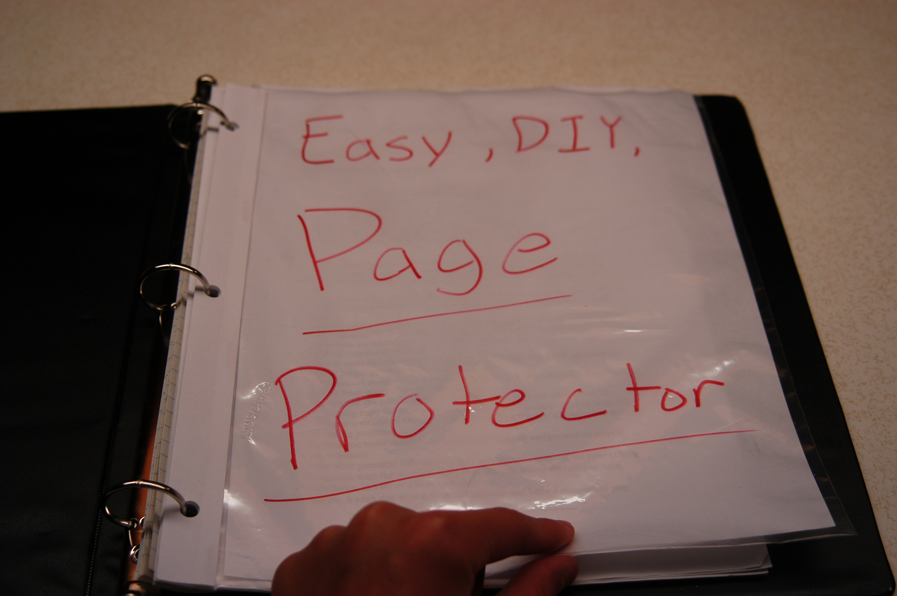 Picture of Easy, DIY, Page Protector