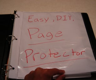 Easy, DIY, Page Protector