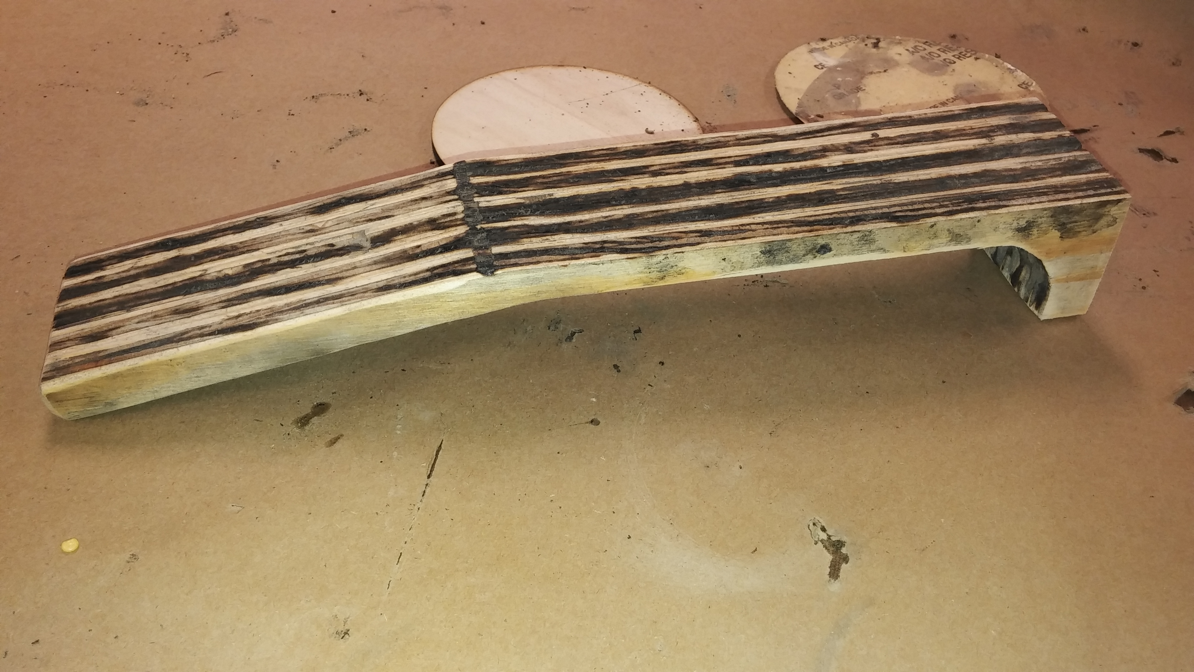 Picture of Attach Neck and Clean Neck and Headstock