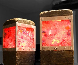 Concrete & Upcycled Glass Lamps