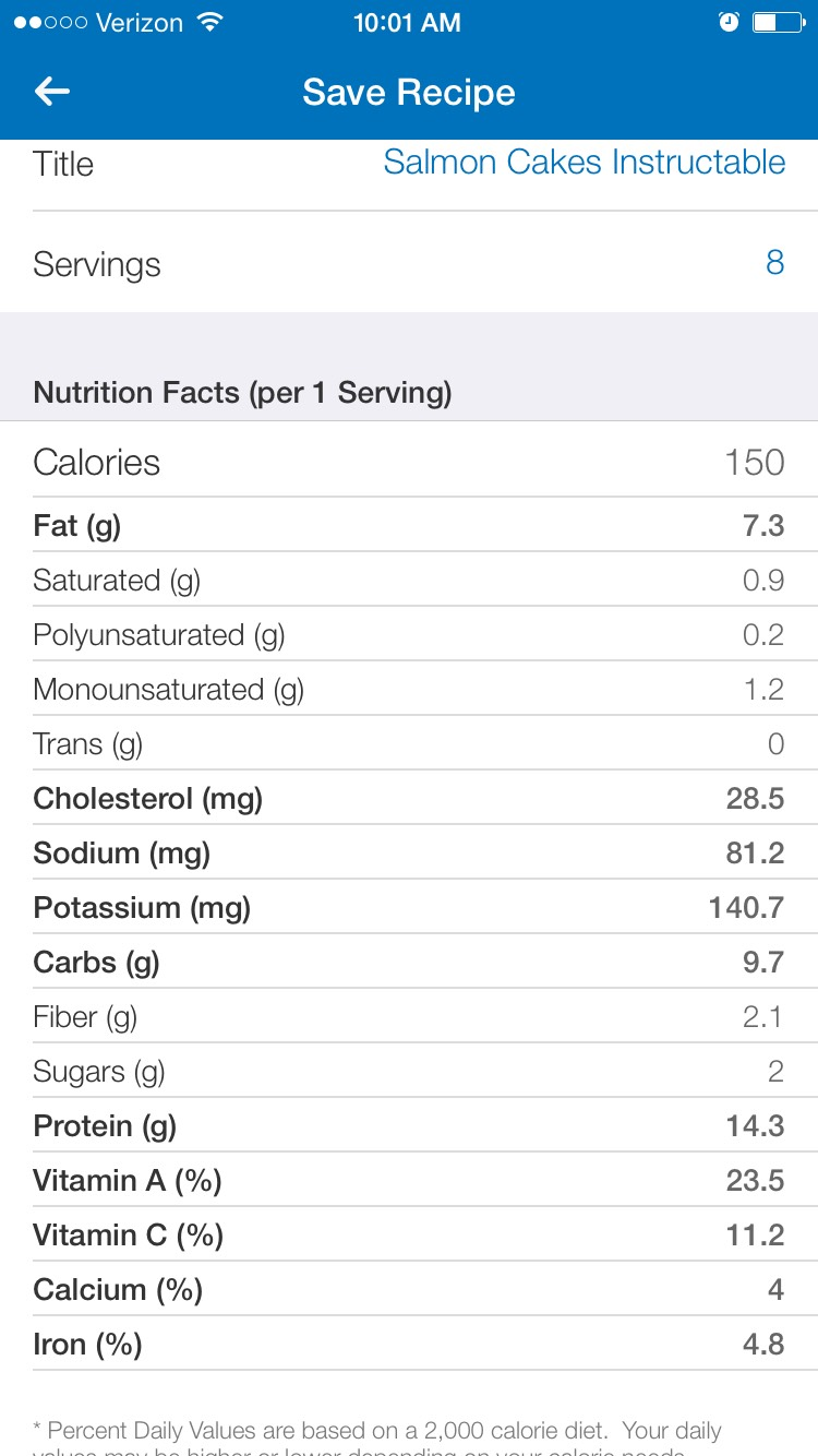 Picture of Nutrition Value