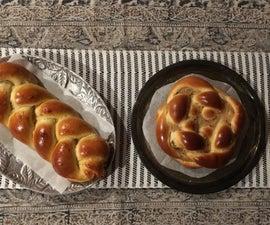Braided Challah Bread, 2 Ways
