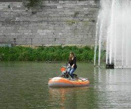 Amphibious Bike With Inboard
