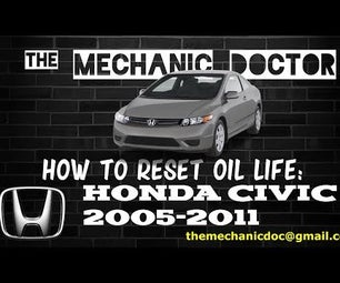 How to Reset Oil Life: Honda Civic 2005-2011