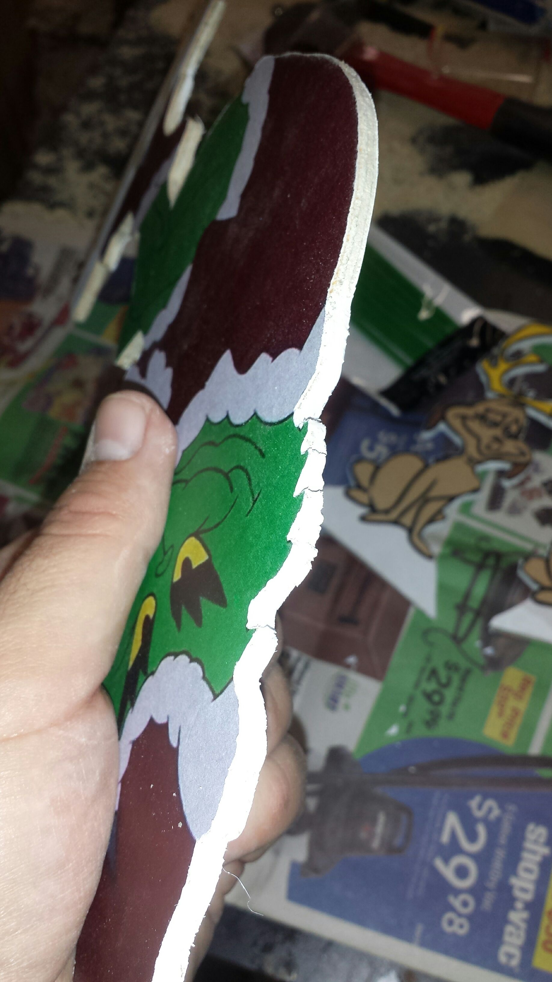 Picture of Paint the Back and the Edges of the Grinch and Dog.