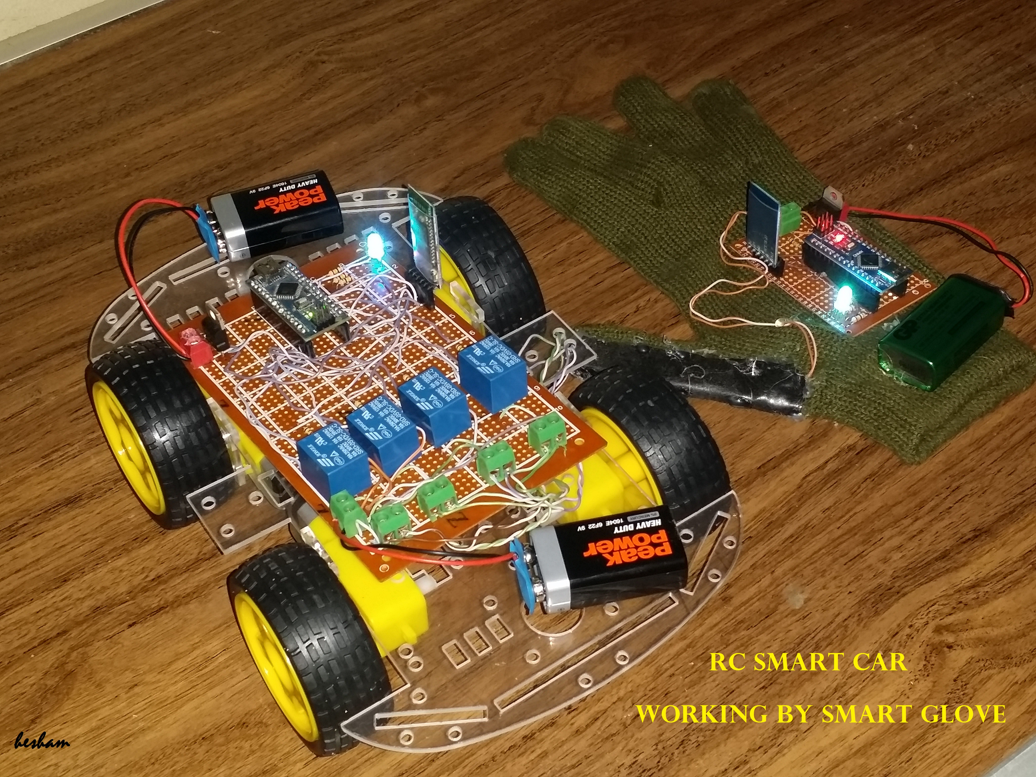 Picture of Smart Car Working by Movement of the Finger