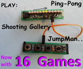 In-Line LED Display Arduino Games