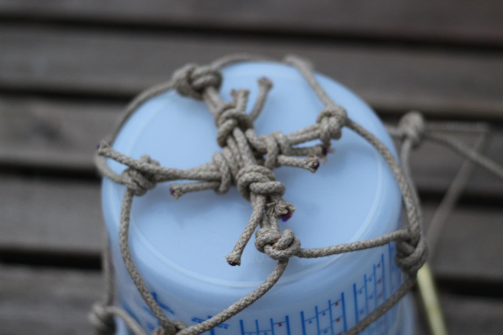 Picture of Make a Macrame Holder (Optional)