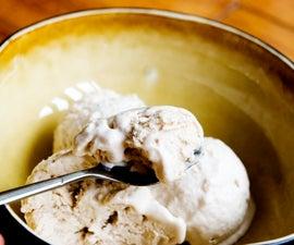 Homemade ice cream without an ice cream machine! Coffee Flavor