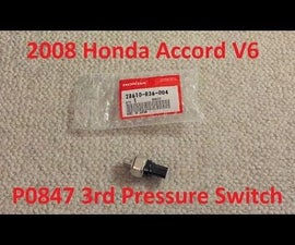 Tutorial: 2008 Honda Accord V6 3rd Pressure Switch Replacement
