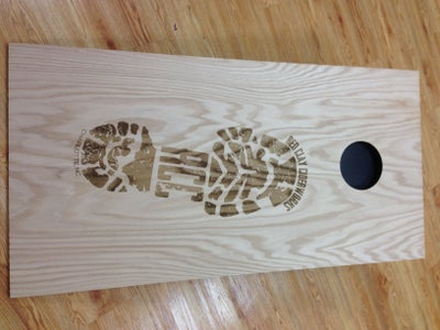 Laser Engraved Cornhole Set