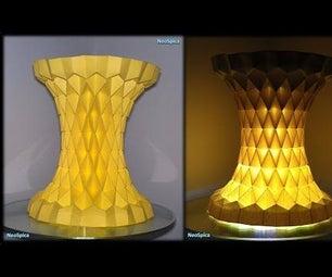 Paper Lamp Fold / Rhombus Grid Hyperboloid