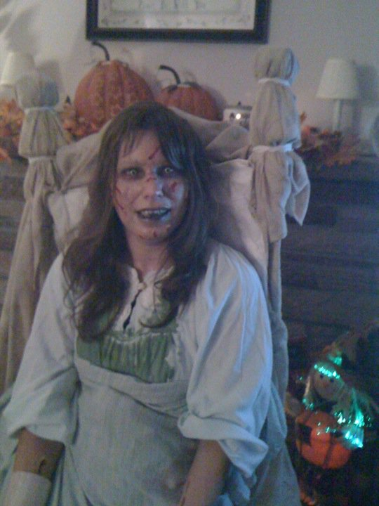 """Picture of My Homemade Raegan From """"the Exorcist"""" Costume"""