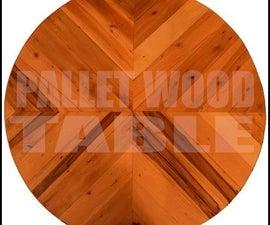 Simple Pallet Wood Table