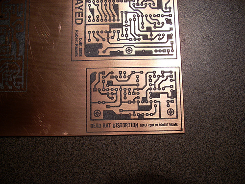 Picture of Etching the Circuit Board...