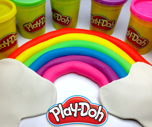 ►LEARN COLORS WITH PLAYDOH RAINBOW ◄