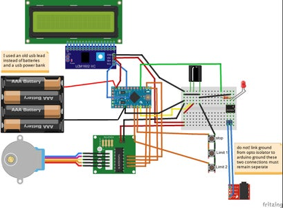Wiring Arduino Slider Programming and Testing