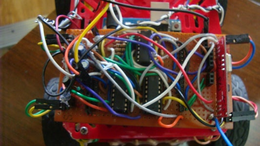 Making the Motor Shield : Adding the Resistors and Motor Driver Connections