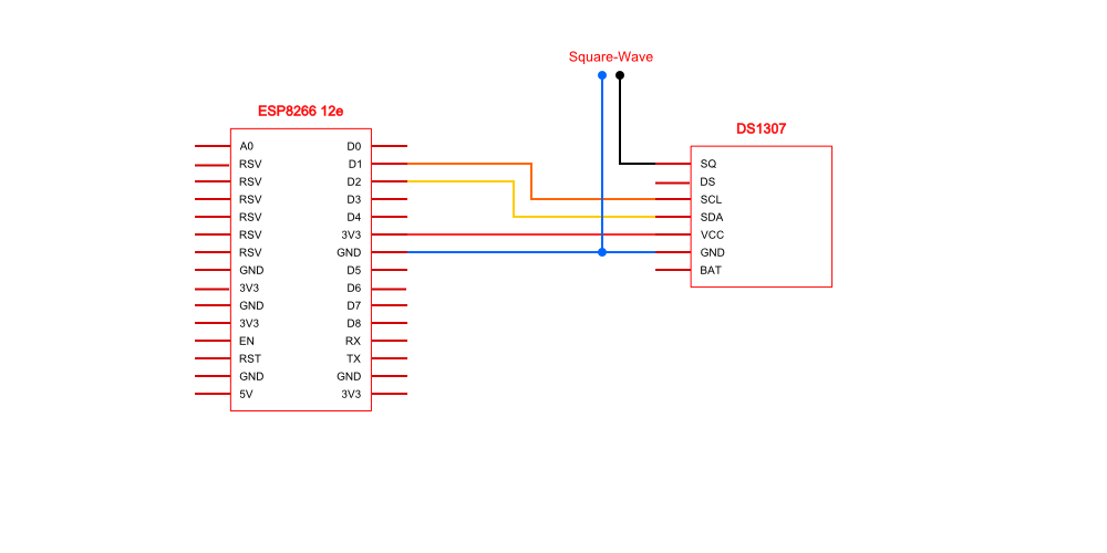 Picture of Connect the DS1307 to ESP8266